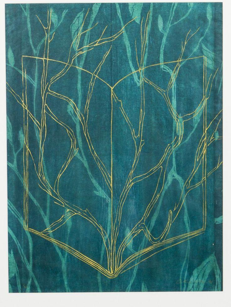 Outi Kirves, 1996, puupiirros, 40x56 cm, edition 1/20 - Hagelstam 5/2016