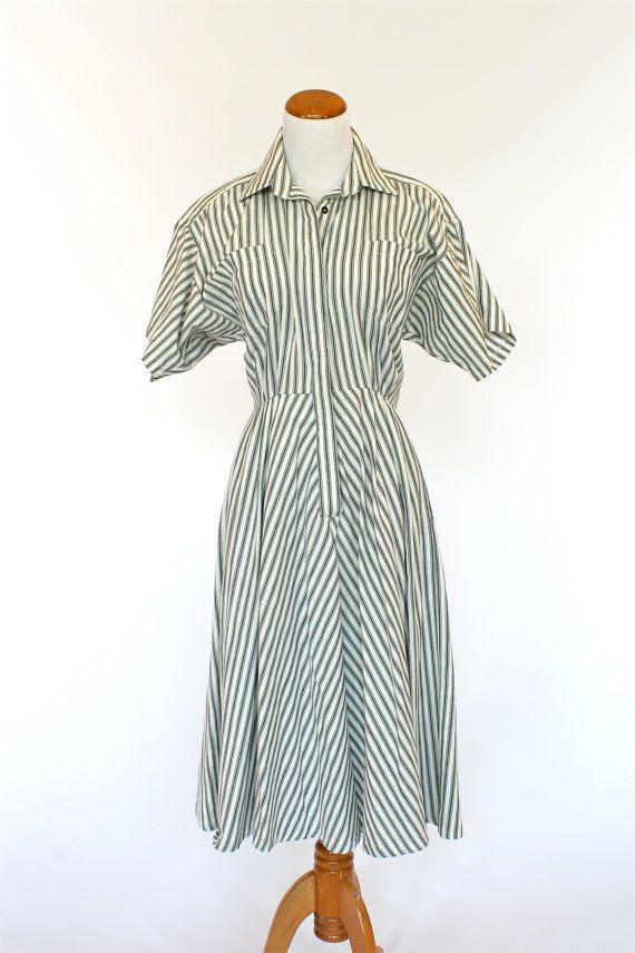 80's Vintage Dress, Norma Kamali Designer Dress, Shirt ...