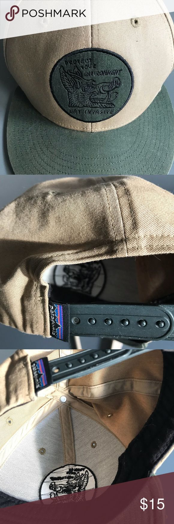 Patagonia SnapBack 'eat invasives' hat Rarely worn and well cared for - basically in perfect condition Patagonia Accessories Hats