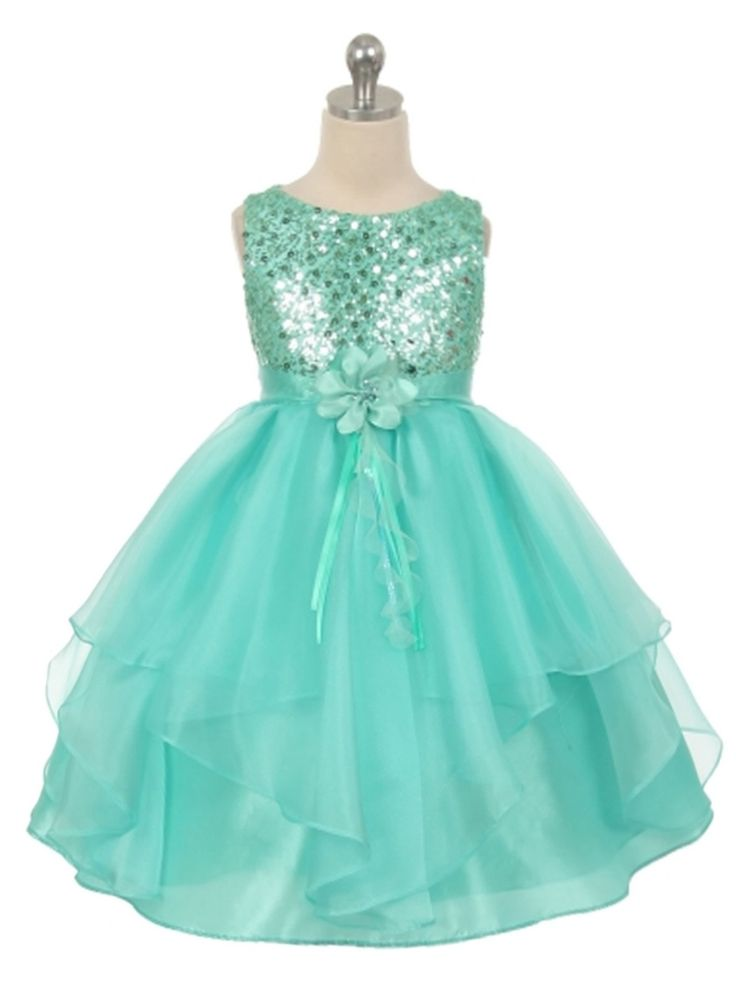 Not tiffany blue wedding flower girl dress opinion