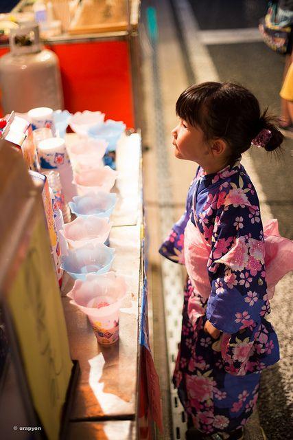 かき氷,まだかな by urapyon - matsuri- festival ,Japan