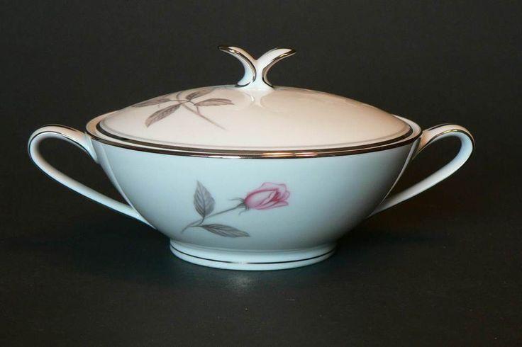Noritake China Rosemarie Pattern 6044 Sugar Bowl and Lid #Noritake