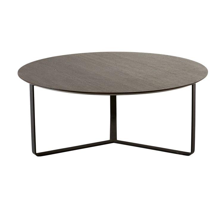 Table basse ronde noire | Maisons du Monde