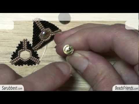 * Peyote Stitch Tutorial: how to make a round open triangle using Peyote Stitch | Beading Tutorial  ** My favorite instructor