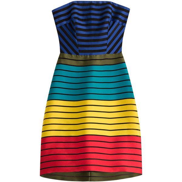 mary katrantzou striped bandeau dress 450 liked on polyvore