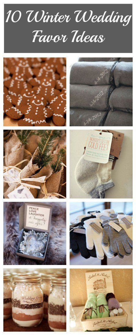 10 Winter Wedding Favor Ideas