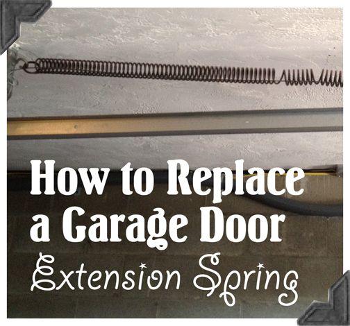 How to Replace Garage Door Extension Springs – Guest Post Home Repair Tutor