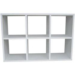Meuble de rangement 6 cases Blanc Declikdeco