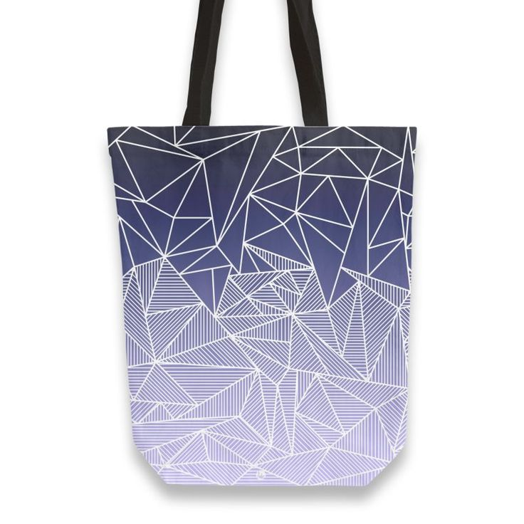 'Bayo Rays' Tote Bag by fimbis on miPic  #geometric #gradient #stripes #bags #navy #purple #lilac #fashion #style #lifestyle #shopping #school #backtoschool #college #university #shoppingbag