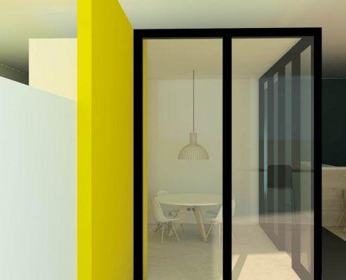 Interieurontwerp vergaderruimte overlegruimte bedrijfsontwerp zakelijk ontwerp Mixl Sneek door De Binnenstudio1