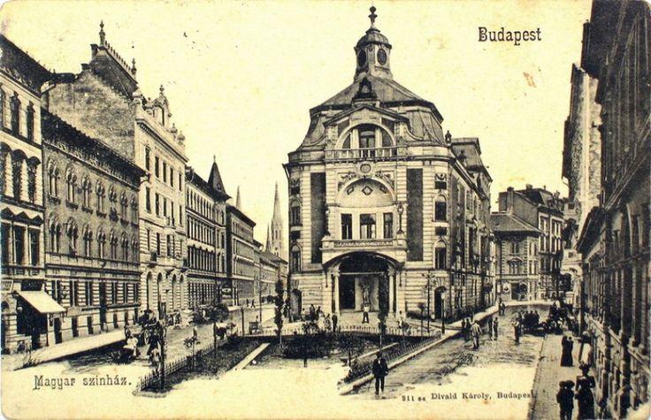 1908 Izabella, Hevesi Sándor tér, a Magyar Színház