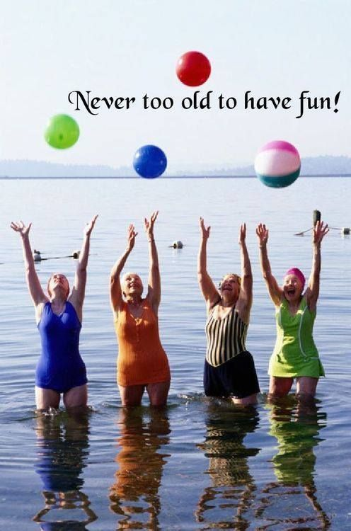 Never too old to have fun !