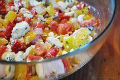 Bei der letzten Grillaktion habe ich mich dazu entschieden, mal einen etwas anderen Salat als den typischen Kartoffelsalat bzw. gemischten Salat als Grillbeilage zu machen. Wunderbar aromatisch, absol