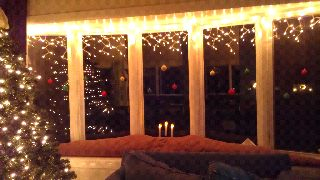Bow Window Decorating for Christmas
