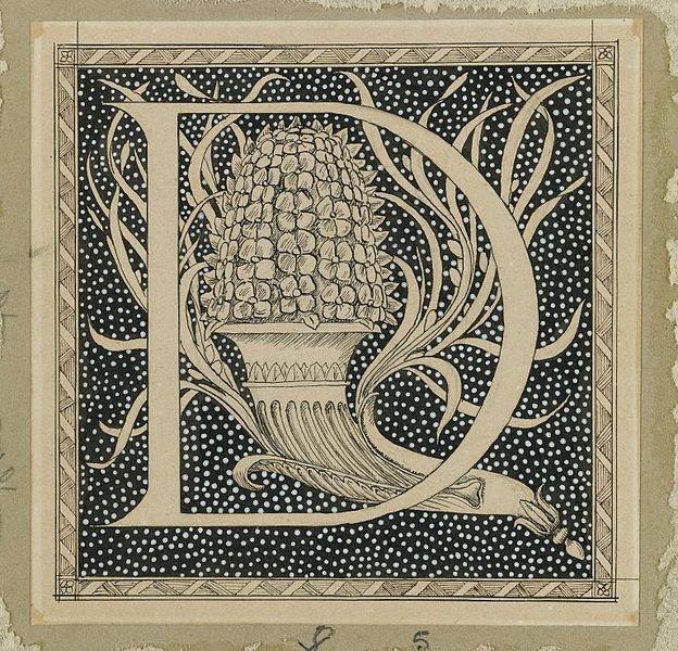 Capital letter D by James Joseph Jacques Tissot (1836–1902)