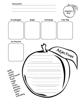 This packet has two activity pages for every three chapters of James and the…