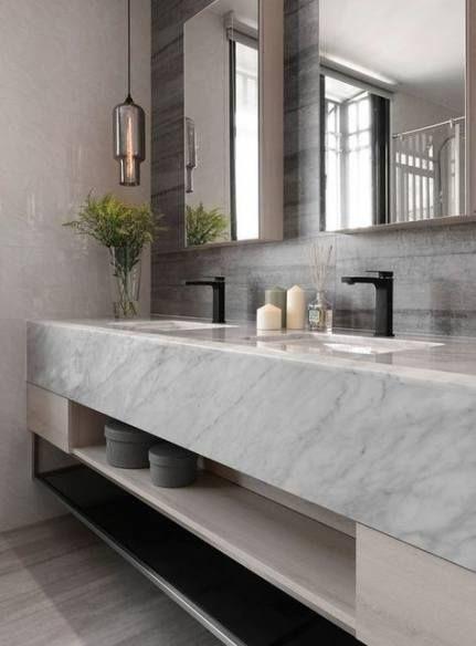 Bathroom marble vanity powder rooms 35+ ideas – #B…