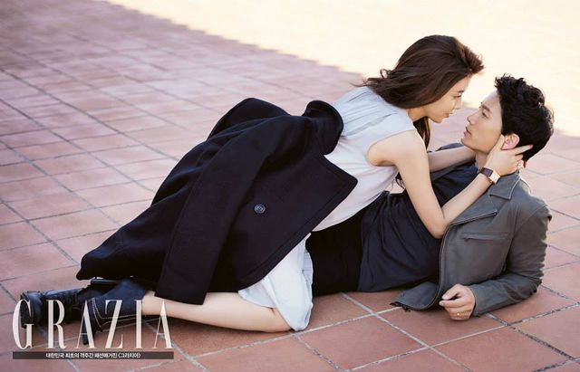 JI SUNG'S & LEE BO YOUNG'S PRE-WEDDING SHOTS FROM GRAZIA KOREA'S OCTOBER 2013 ISSUE