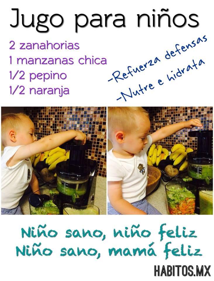 Hábitos Health Coaching   JUGO PARA NIÑOS…..
