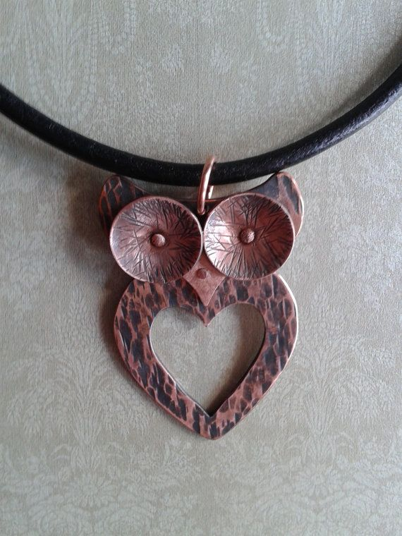 Owl of my Heart pendant necklace