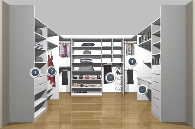Walk in storage solution closet confidential pinterest - Dressing room small space ...