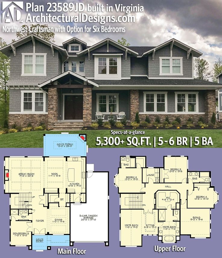 Architectural Designs Craftsman House Plan 23589JD built