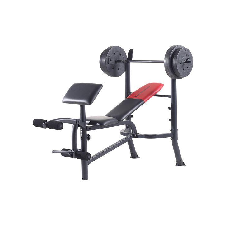 Weider Pro 265 Standard Weight Bench, Black