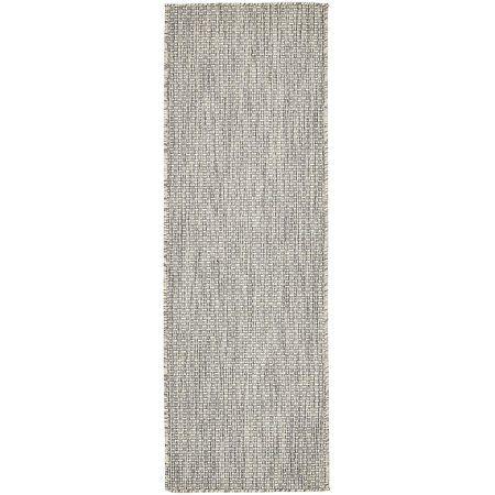Unique Loom Outdoor Solid Rug, Gray