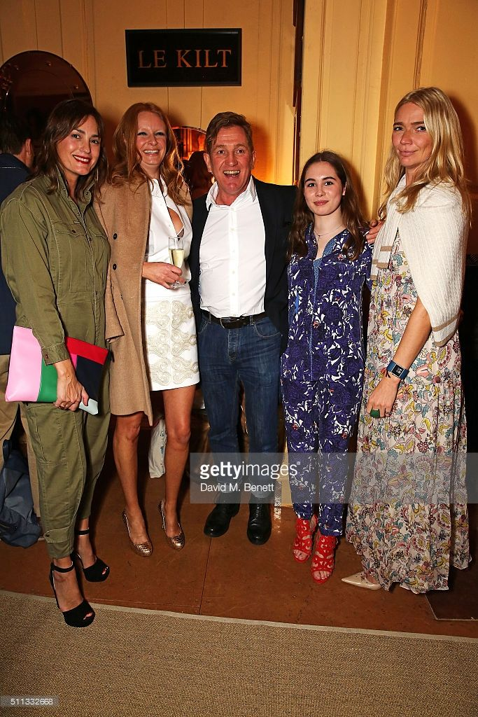 Yasmin Le Bon, Olivia Inge, Johnnie Boden, Stela Boden and Jodie Kidd attend 'Boden Future British' launch party hosted by Boden founder Johnnie Boden at The Union Club on February 19, 2016 in London, England.