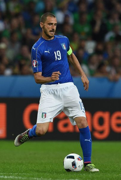 Leonardo Bonucci captain of Italy in action during the UEFA EURO 2016 Group E match between Italy and Republic of Ireland at Stade Pierre-Mauroy on June 22, 2016 in Lille, France.
