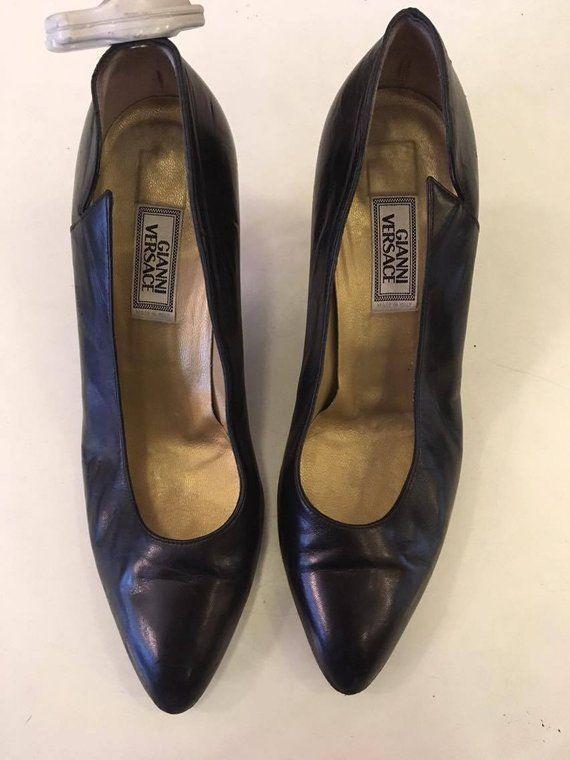 7575d9d3c29 Gianni Versace Black Shoes | Lingerie shoes | Shoes, Versace shoes ...