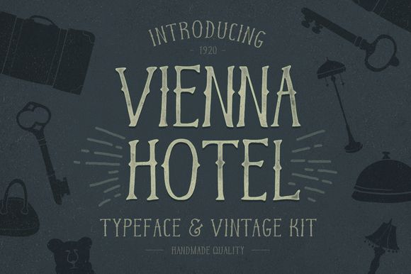 Vienna Hotel – Handmade Typeface by Petr Knoll on Creative Market