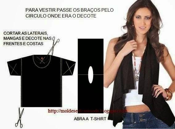 ARTE COM QUIANE - Paps,Moldes,E.V.A,Feltro,Costuras,Fofuchas 3D: Customizando camiseta T-shirt