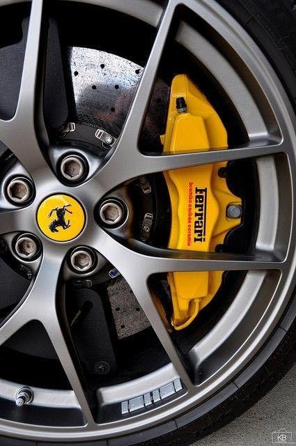 Yellow Ferrari Sports Wheel