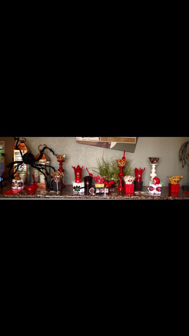 49er candy bar event decor pinterest candy candy for 49ers room decor
