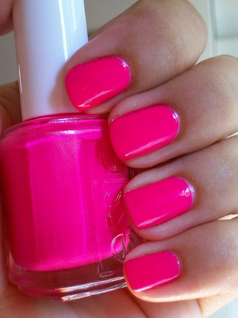 hot pink nails....yes: Nail Polish, Style, Pink Nails, Nailpolish, Makeup, Summer Color, Hot Pink, Nail Art