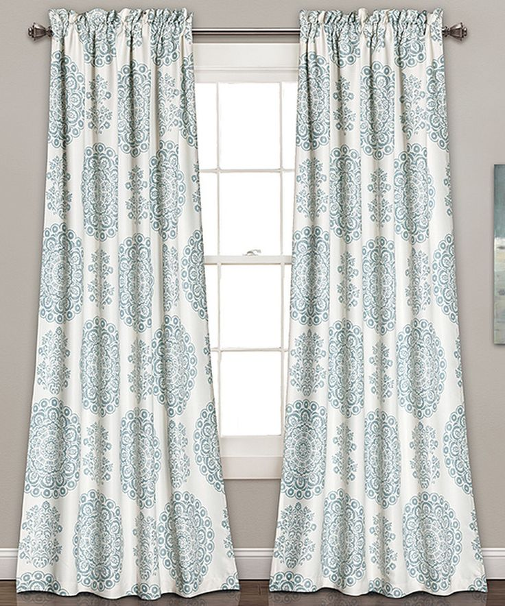 Loving this Blue Evelyn Medallion Room-Darkening Curtain Panel - Set of Two on #zulily! #zulilyfinds