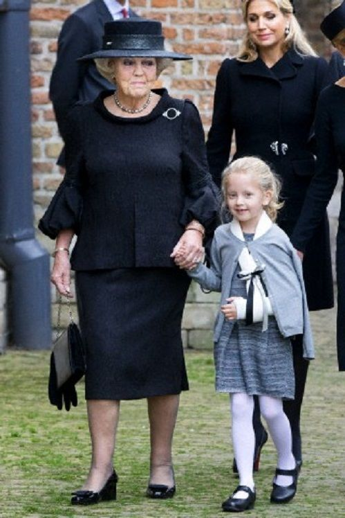 Dutch Queen Maxima (back), Princess Beatrix and Countess Zaria arrive for the commemoration of Prince Friso at the Old Church in Delft, The Netherlands, 02.11.13.