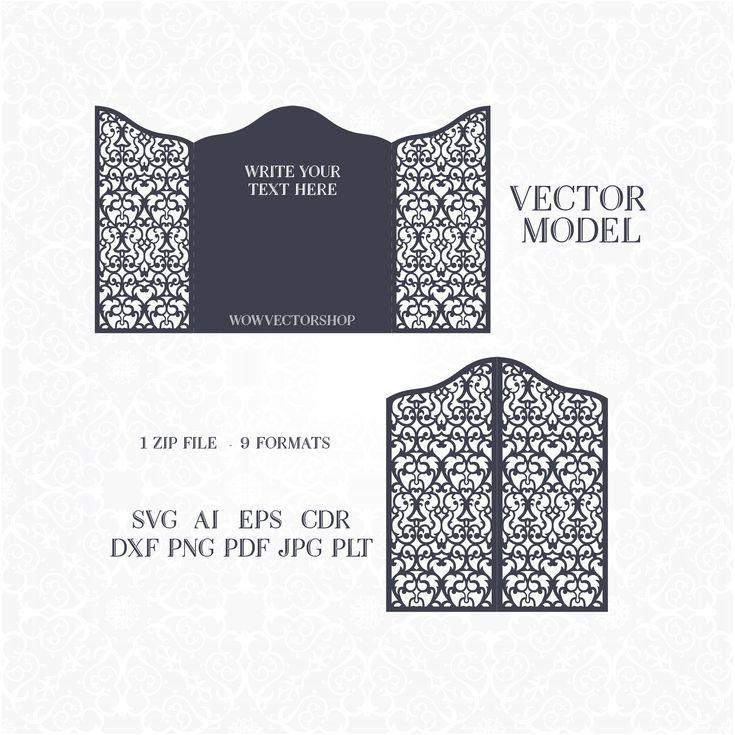 44 best laser cut wedding invitation template images on Pinterest