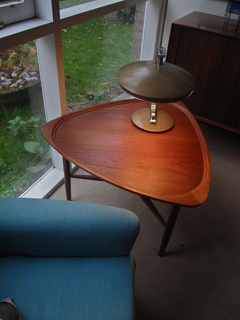 Mid-Century Danish Modern Teak Coffee Table- this is MY coffee table!! I got mine at a second hand store for $15!!! It is however in a bit rougher condition, but only until I can find Some teak oil