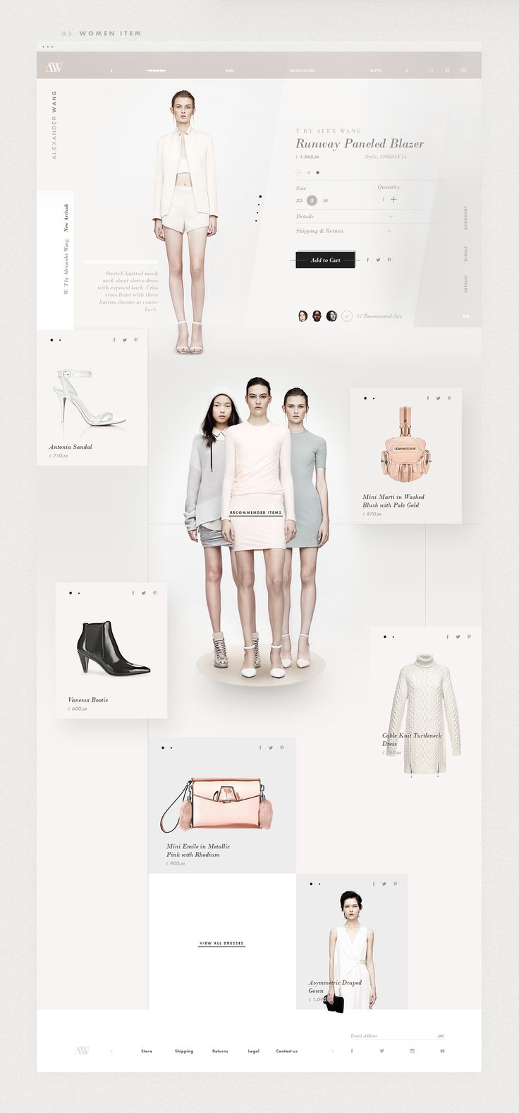 Alexander Wang - Fashion Website