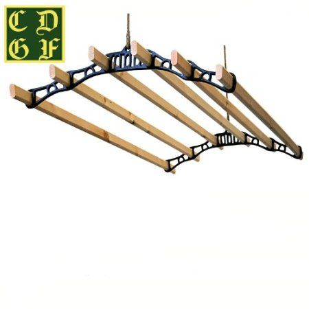 6 Lath Victorian kitchen ceiling pulley clothes airer maid laundry dryer 1.8M WHITE: Amazon.co.uk: Kitchen & Home