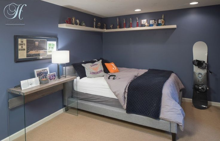When your kids are young, it is easy to bundle them and their friends all together into shared spaces. However, as they enter the teen years, that need for a sense of independence becomes very important—at least to the teen! For our clients, their little-used lower level offered the perfect opportunity to create a teenage boy bedroom suite. Read more on our blog. #design #teens #bedrooms
