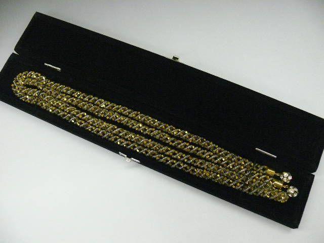 """Gold-Colored Swarovski & Beaded """"Obi-Jime"""" 2"""
