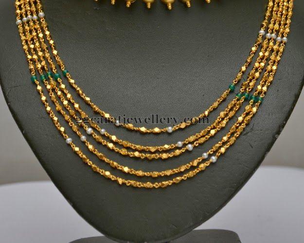 495ca561d28b97 Fancy Chains Gold Chandra Haar   Bridal Jewellery   Jewelry, Bead jewellery,  Gold