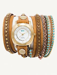 Camel Gold Bali Gold Odyssey Turquoise Crystal Wrap