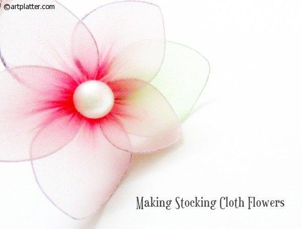 Stocking Flowers Making 68