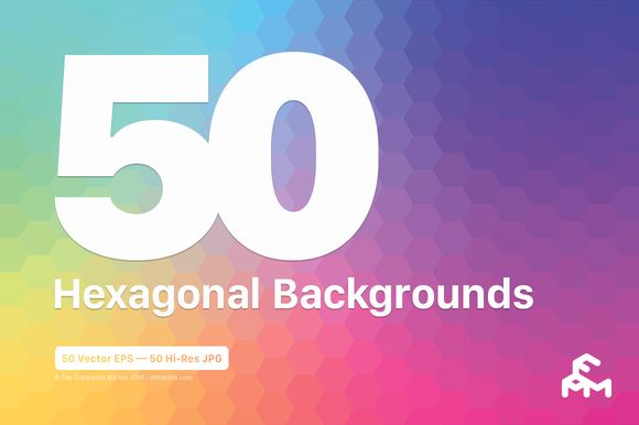 Check out 50 Hexagonal Backgrounds by MARTINI Type Designer on Creative Market