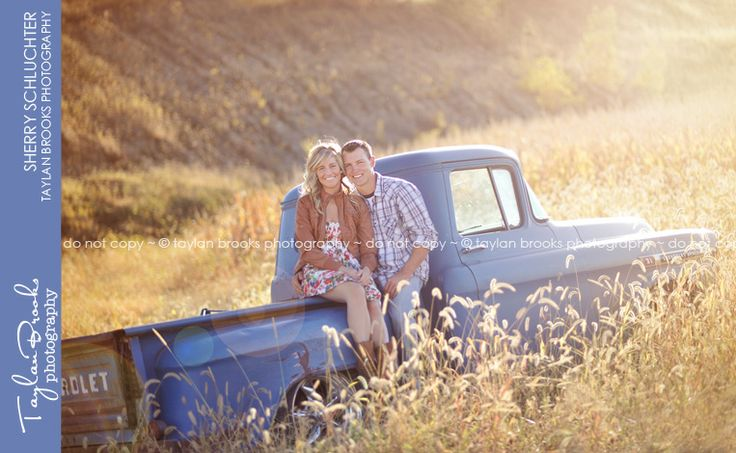 old truck.  engagement