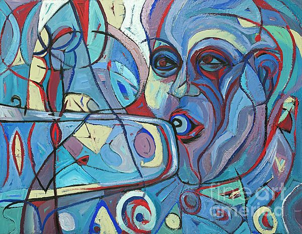 Louis Armstrong What a Wonderful World Painting Trumpeter